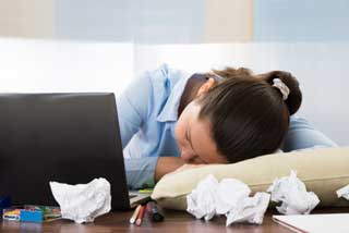 sleep at work workload