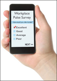 employee pulse survey mobile device