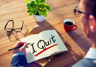 Employee Turnover I quit note